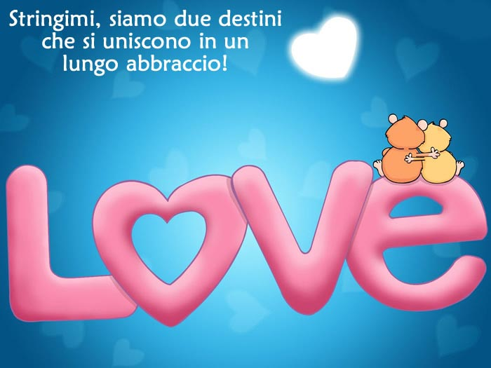 Famoso Bellissima Immagine Amore Stringimi con frase d'amore! HY22
