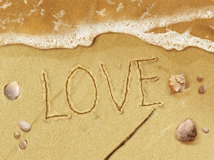 IMMAGINE D'AMORE LOVE SABBIA