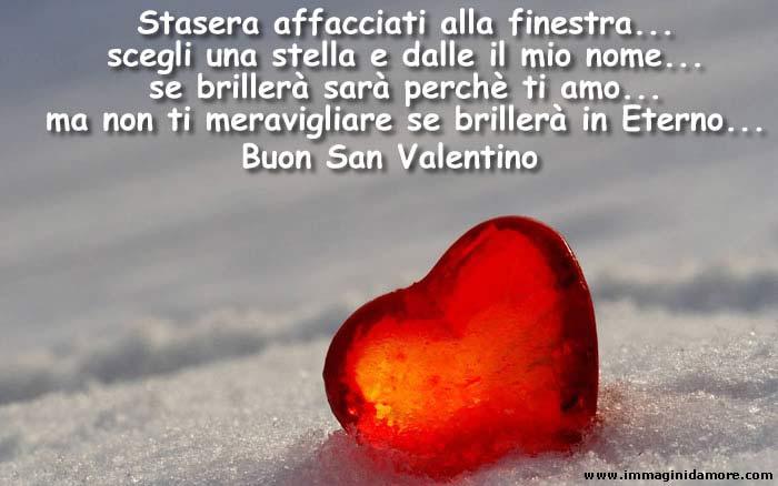 Bellissima immagine auguri di san valentino con dedica d - Affacciati alla finestra amore mio ...