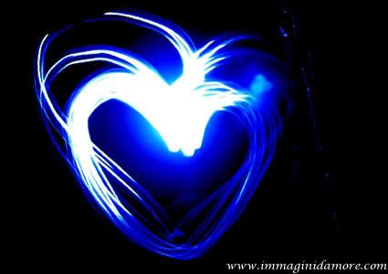 IMMAGINE CUORE azzurro e luminoso