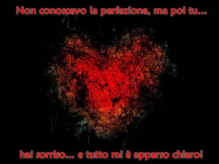 Amato Bellissima Immagine d'Amore perfezione con frase d'amore! WM01