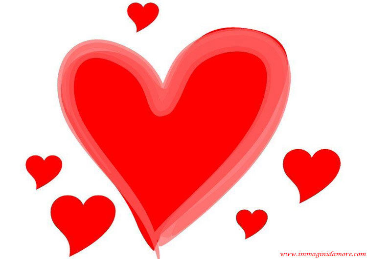 Immagine d 39 amore cuori amore for Immagini di cuori rossi